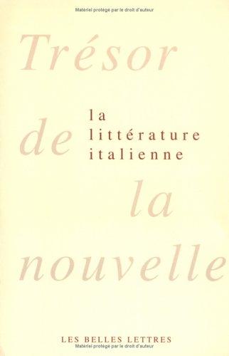 Trésor de la nouvelle de la littérature italienne en 2 volumes