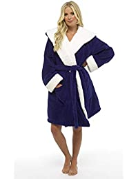 d39894e266 CityComfort Luxury Ladies Dressing Gown Soft Plush Bath Robe for Women  Housecoat Loungewear Bathrobe