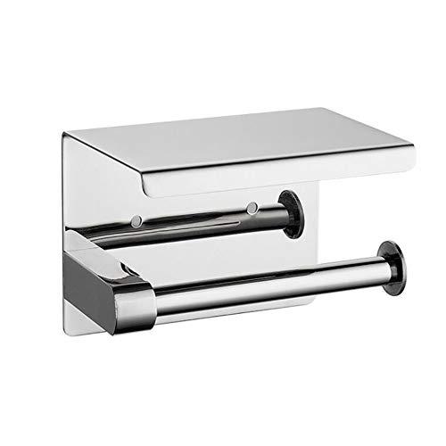 YWQQDP 304 Edelstahl Papierhandtuchhalter, Hotel Badezimmer Rollenhalter WC Handy-Halter-Licht-Toilettenpapierhalter