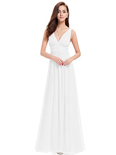 Ever-Pretty Robe de Soirée pour Marriage 38 Blanc
