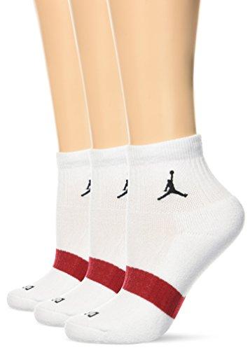 Nike JORDAN DRIFIT LOW QTR. 3PPK - Socken Unisex, Weiß (white/white/white), M (Jordan Socken White)
