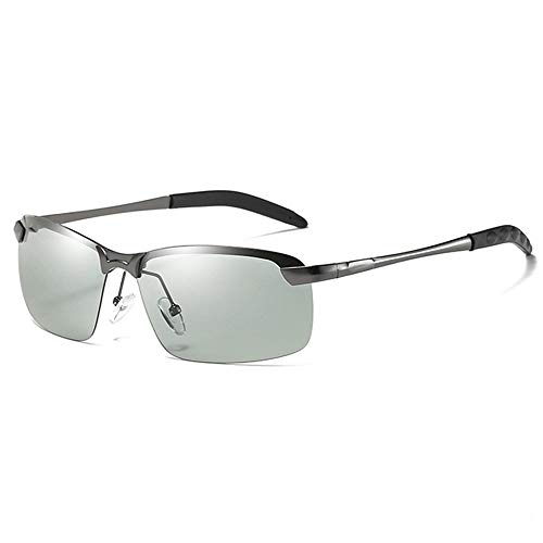 Gläser Unterschiedliche Lichtfarben-Sonnenbrillen Polarisierte Sonnenbrillen Sport-Sonnenbrillen Farbwechselbrille (Color : Grau, Size : Kostenlos)