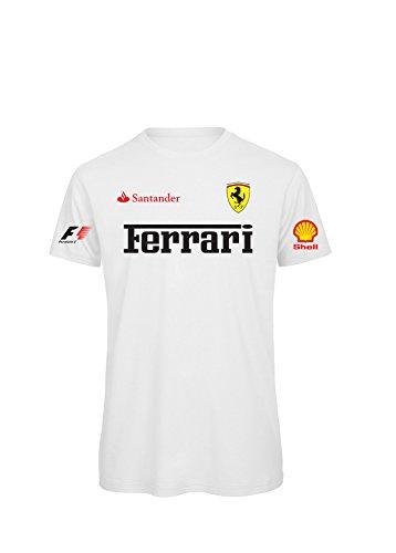 personalisiertes-kurzarmliges-t-shirt-team-ferrari-formula-uno-l-bianco