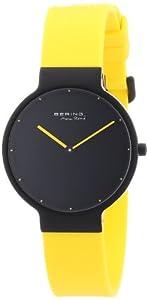 Reloj Bering Time 12631-827 de cuarzo para mujer con correa de plástico, color amarillo de Bering