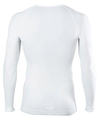 FALKE Herren Underwear Warm Longsleeved Shirt Tight Men Sportunterwäsche White
