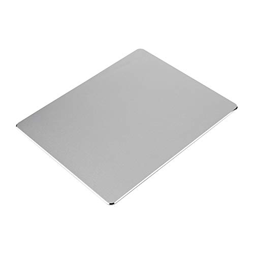 Silber Leder Slip (HermosaUKnight Aluminium Muismat Metall Gaming Mouse Mat Mousepad mit PU-Leder-Anit-Slip-Schwarz-Silber)