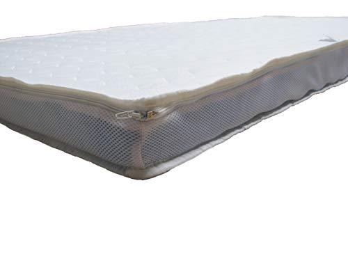 ARBD Bezug Topper versteppt mit Klimaband und Reißverschluss (10cm XL, 180x200)