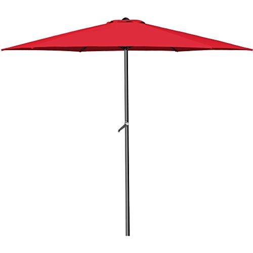 Sonnenschirm I Aluminium I Ø300cm I mit UV-Schutz 40+ I inkl. Kurbel + Dachhaube I mit Neigevorrichtung I rot - Kurbelsonnenschirm Marktschirm Gartenschirm
