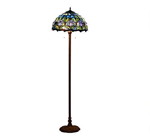 QXX Stehlampe-Wohnzimmer-Studienraum-Blaue Tulip Glass Creative Lighting
