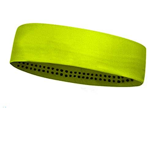 EODUDO-S Elastisches Haarband, rutschfestes, feuchtigkeitstransportierendes Sportstirnband aus Baumwolle für Herren und Damen mit Schweißband, Weitere Stile (Farbe : Gelb)