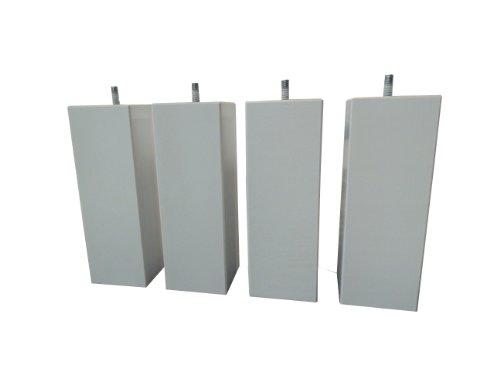 Hévéa Sélection Spiel Möbelfüße aus Holz, quadratisch, Silver 20cm 70x 70pdscarre20s