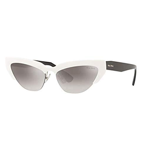Miu Miu Sonnenbrillen SMU 04U WHITE/GREY SHADED Damenbrillen