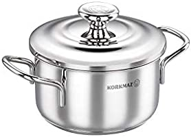 Korkmaz Tombik Stainless Steel Cookware 5.5 L, Silver, A1075
