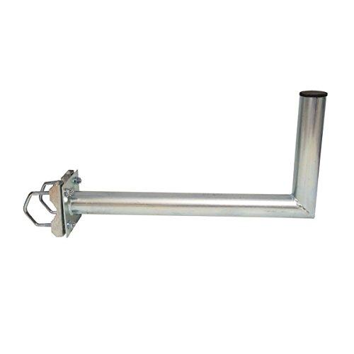 PremiumX Balkonhalterung / Geländerhalterung / Ausleger mit Schellen, Zahnschellen 35cm Stahl für Sat Schüssel Spiegel Antenne Satellitenschüssel