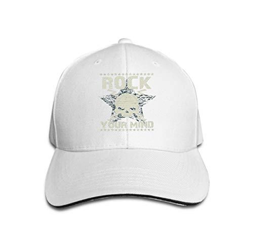 Tiger Kostüm Rock Star - Unisex Baseball Cap Trucker Hat Adult Cowboy Hat Hip Hop Snapback Rock Typography Star Skull Emblem Fashion Music Design