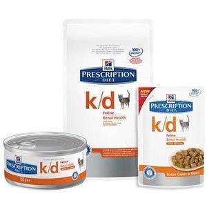 prescription diet k/d feline tender chunks gravy umido salmone 12bustx85g
