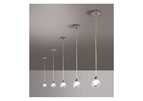 Suspension design BALI CROMO 1L - ampoule G9 osram - mantra