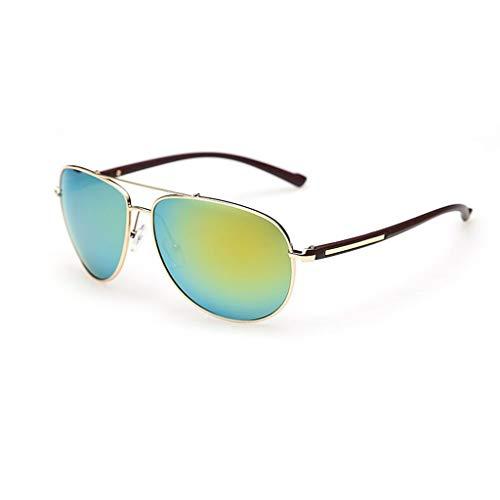 YIWU Brillen Sonnenbrillen Männer und Frauen Flut Fahren Sonnenbrillen Farbfilm Rundes Gesicht Spiegel Star HD Polarisierte leichte Sonnenbrille Brillen & Zubehör (Color : 3)