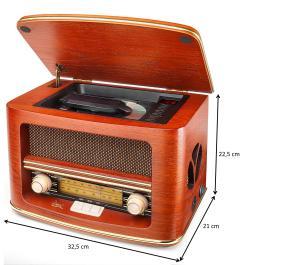 Dual Nr 1 Cd Nostalgieradio Mit Cd Player Ukw Mw Tuner Frequenzskala Holzgehäuse Lautstärkeregler Stereoklang Aux In Braun Heimkino Tv Video