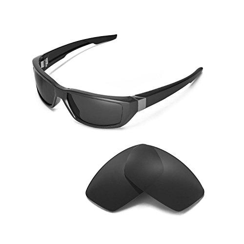 Walleva Ersatzgläser für Spy Optic Dirty MO Sonnenbrille - Mehrfache Optionen (Schwarz - polarisiert)