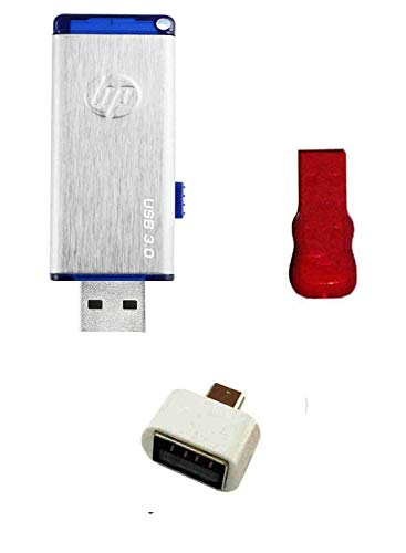 HP X730W 16 GB USB 3.0 Pendrive with OTG Adapter and Card Reader Combo Set