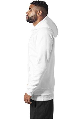 Urban Classics Herren Kapuzenpullover Zip Hoody Weiß