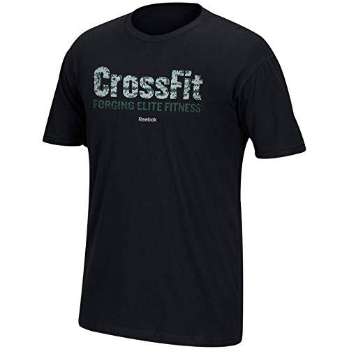 Reebok Herren T-Shirt Crossfit Forging Elite Fitness Digi Camo Schwarz Graphic Tee, Herren, schwarz, XX-Large -