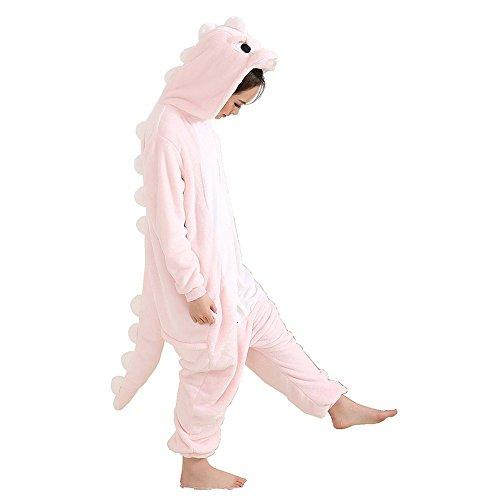 Rosa Dinosaurier Adult Pyjama Cosplay Tier Onesie Body Nachtw?sche Kleid Overall Animal Sleepwear Erwachsene M