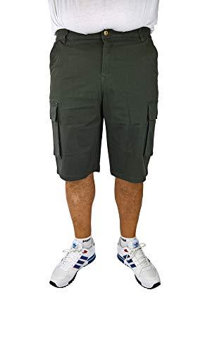 Plus Size Stretch-twill Shorts (Herren Cargo-Bermuda Jeans mit elastischem Komfortbund in den Größen 60, 62, 64, 66, 68, 70, XL, XXL, 3XL, 4XL, 5XL, 6XL, Große Größen, Übergröße, Big Size, Plus Size (66, Khaki))