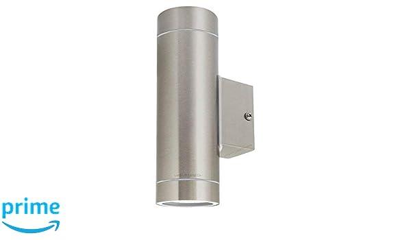 Zenon Long Life Lamp Company Double Applique Murale extérieure IP65 UpDown Applique Murale d'extérieur GU10 – Acier Inoxydable, Lot de 4