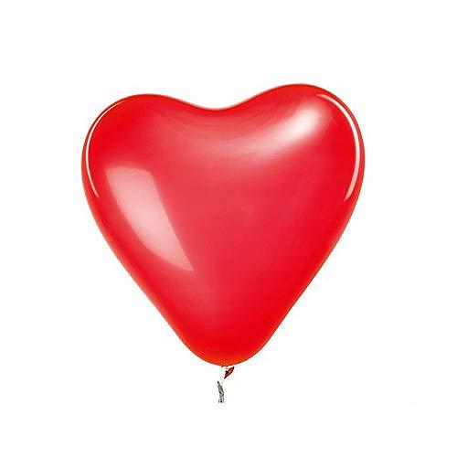 Scrox 50 pcs Globos románticos de la Boda Fiesta Infantil Día de San Valentín Corazón Globos de látex Rosa Rojo