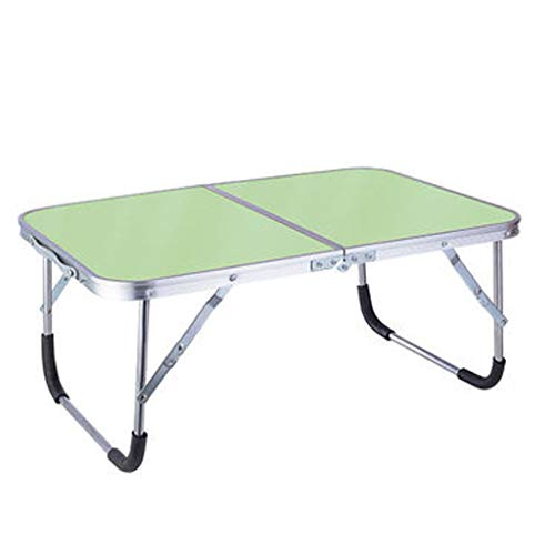 YQCSLS Tragbare Falten Computer Laptop Stehen Indoor Outdoor Camping Tisch Bett Schreibtisch Home Office Möbel (Grün) -
