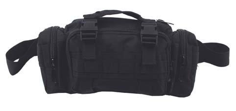 Hüfttasche wahlweise auch als Schultertragetasche mit diversen Taschen, Farbe: Schwarz