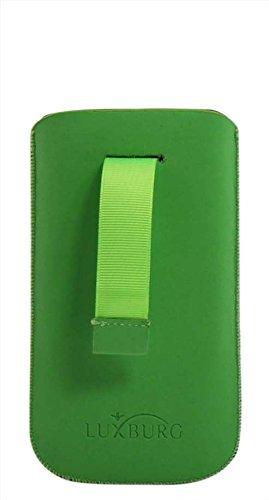 Luxburg® Glaze Design Schutzhülle für Apple iPhone 6 in Farbe Iris Violett / Lila, Hülle Case aus TPU Silikon Stofftasche Maigrün / Grün
