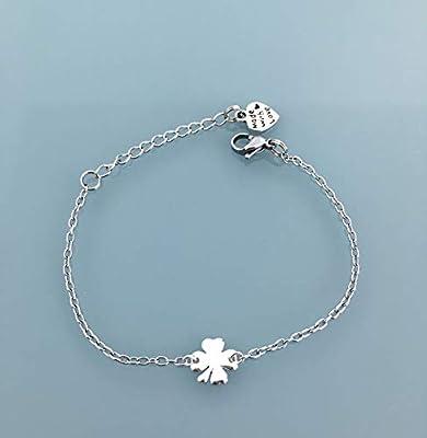 Bracelet trèfle bracelet porte bonheur, Bracelet gourmette trèfle en argent, bracelet femme, idée cadeau, bijoux cadeaux, bijou trèfle, bracelet argent, bracelet, bijou argent