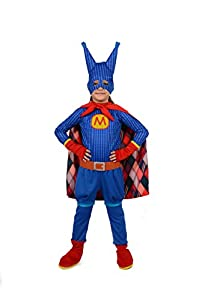 Ciao Super Masha disfraz de niña 4-6 anni Blu, Rosa