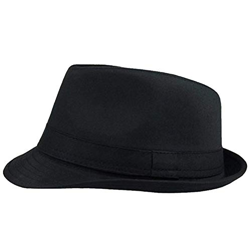 Ogquaton Retro Jazz Hat Thicken Trilby Hat Moda Otoño
