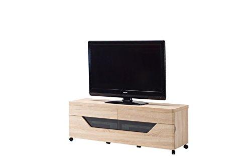 Jahnke CU-LIBRE TV 140 EICHE SÄGERAU TV-Lowboard, E1-Holzwerkstoffplatten, beschichtet, 140 x 40 x 50 cm