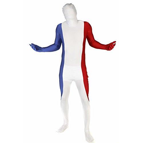 Morphsuits - Mfm - Bandiera Per la Francia Altezza 150-165 Cm - Taglia M