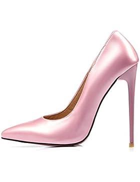 QPYC Scarpe da donna con tacco a punta sottile e tacco alto Scarpe da sposa di grandi dimensioni , Pink , 37
