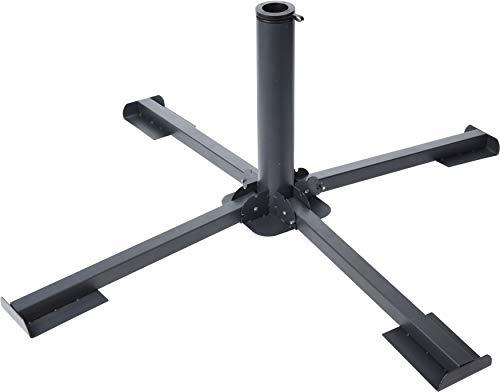 Plattenständer für Sonnenschirm Schirmständer Kreuz Metall Platten 40x40 cm