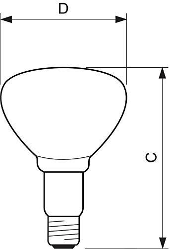 Kerbl Hartglaslampe Philips 150W 240V, rot