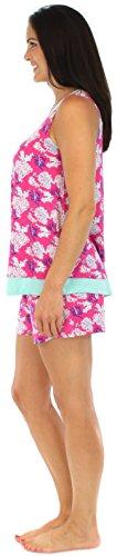 bSoft vêtement de nuit pour femme débardeur avec short ensemble pyjama avec poches Océan Corail