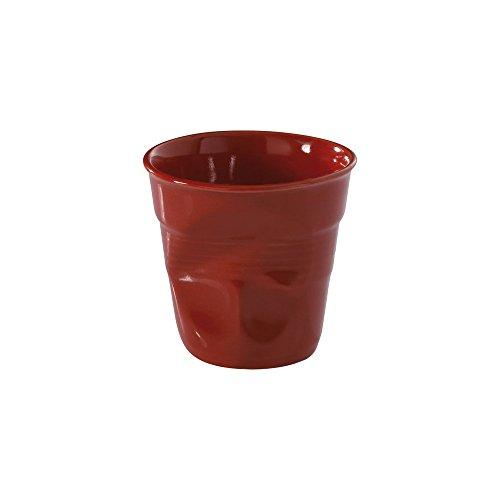 6 Tasses café froissées Rouge piment Revol 12 cl