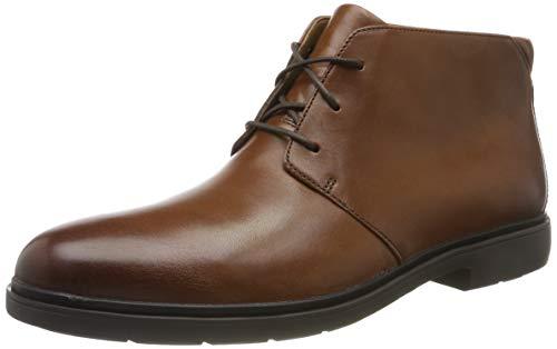 Clarks Herren Un Tailor Mid Chukka Steifel,Braun (Tan Leather Tan Leather),44 EU -