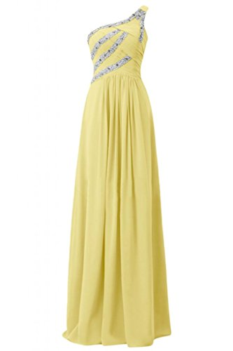 Sunvary splendida Custodia Strap asimmetrici Spazzola per abiti da sera elegante Daffodil