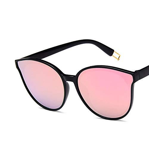YUHANGH Mode Frauen Gespiegelt Cat Eye Sonnenbrillen Rosa Linse Elegante De Sol Damen Übergroßen Sonnenbrillen