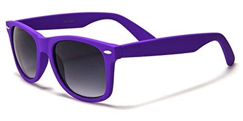 Boolavard® Nerd Sonnenbrille im Wayfarer Stil Retro Vintage Unisex Brille - 45 Modelle wählbar (Dark Blue ()