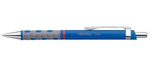 Rotring Set (3Stifte Druckkugelschreiber Tikky Feinminenstift Grip pte Durchschnitt blau