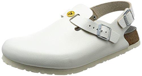 Birkenstock 61410-40-normales Schuh TOKIO Antistatik/Naturleder WEISS Gr. 40 - normales Fußbett, Größe -